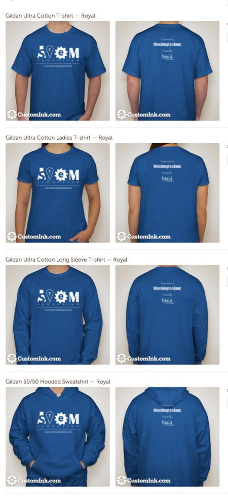 STEM Symposium 2016 T-Shirts